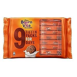Cadbury Bournvita Pro Health Vitamins Chocolate Biscuits, 250 gm Tiffin Pack (Pack of 5)