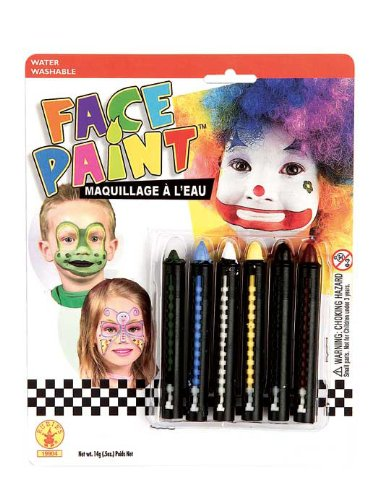 Rubies Face Painting Stick Set, 6-Color