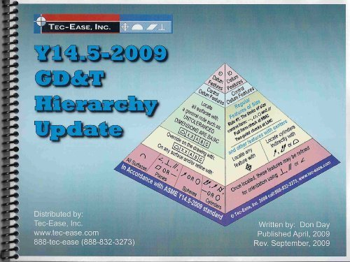 Y14.5-2009 GD&T Hierarchy Update (The Hierarchy of Geometric Dimensioning and Tolerancing Series)