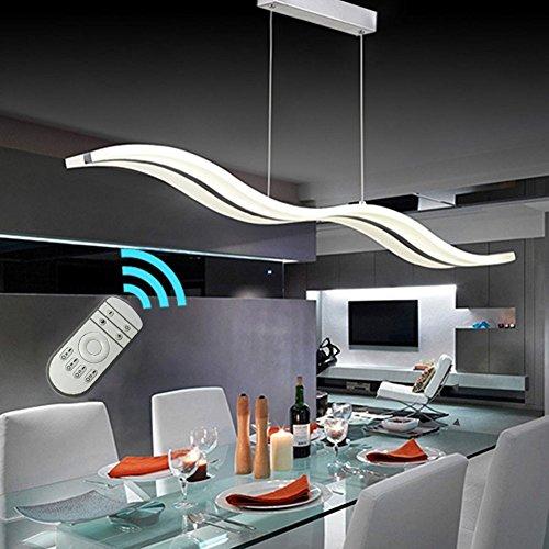 Create For Life® Kronleuchter Moderne Welle LED-Pendelleuchte Deckenleuchter Licht-LED hängende Leuchte für moderne Wohnzimmer Schlafzimmer Esszimmer (Dimmbar mit Fernbedienung 38W)
