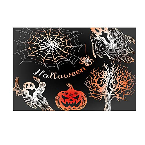 Und Silber Kostüm Rot Mann Iron - Halloween geheimnisvolle Kulisse Black Night Vollmond Ghost Friedhof Kürbis Schädel Horror Foto Requisiten Halloween Party Portrait Tür Fotoshooting Booth Spooky Masquerade Decor 3x5FT