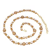 #3: I Jewels Traditional Gold Plated Kundan & Stone Studded Kamarband for Women B017