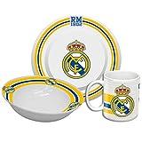 Real Madrid gs-21-rm–Set de Petit Déjeuner Bol + Tasse + Assiette)