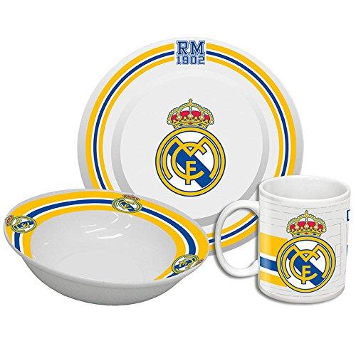 Real Madrid GS-21-RM – Set de desayuno (bol + taza + plato)