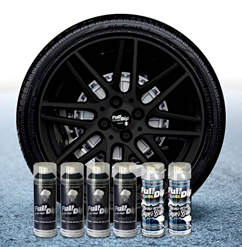 Sophisticauto Full Dip Packs Ahorro Llantas 6 Sprays Negro Brillo