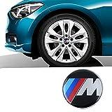 OPAYIXUNGS 4 x Centres de Roue 65mm Logo embleme Bleu Blanc Cache moyeu BMW M Logo