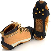 Jazooli Anti Slip Winter Snow Ice Spikes Grippers Crampons Overshoes for Boots Shoes