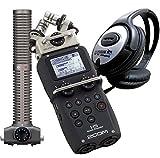 Zoom H5 Rekorder + SSH-6 Stereo Shotgun Mikrofon + KEEPDRUM Kopfhörer