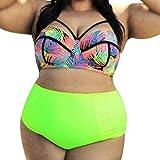 HP95(TM) Fashion Plus Size Bra Swimsuit Women Sexy Beach Bikini Set Swimwear (XXXXXL