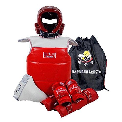 Lieferungen Schutzmaßnahmen für Kickboxen Sechs-teilig für Damen rot Stil 4 mehrfarbig