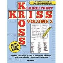 Large Print Kriss Kross Volume 2