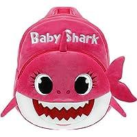 Baby Shark School Bag, Kids Cute Plush School Backpack (Pink)
