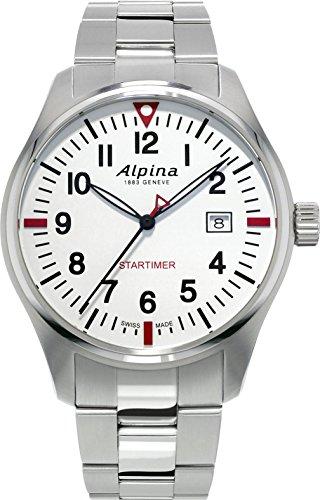 Alpina Geneve Startimer Pilot AL-240S4S6B Reloj de Pulsera para hombres Legibilidad Excelente