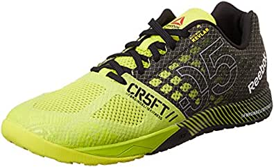 Reebok  R Crossfit Nano 5.0, Chaussures de fitness hommes - Jaune - Jaune/noir, 12.0 US - 45.5 EU