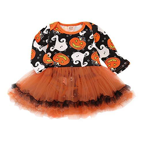 Junlinto Baby Mädchen Halloween Kürbis Geist Tüll Kleid Neugeborenen Kleinkind Party Kostüm Neue 70
