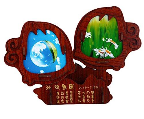 Preisvergleich Produktbild Constellation Photo Frame 3D-Puzzles aus Holz Bilderrahmen Puzzle-Fische