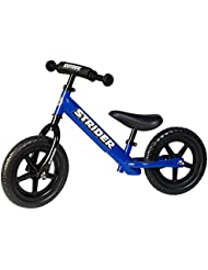 Strider 12 Sport - Bicicleta infantil sin pedales para niños de 3 - 5 años, color azul