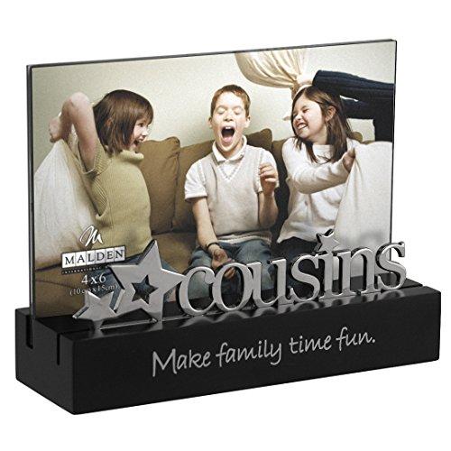 Malden Familie Desktop Expressions Rahmen mit Silber Word-Anhang Cousins (Tabletop-bilderrahmen)
