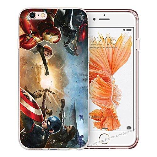 Handyhülle Helden Avengers kompatibel für iPhone 6 / 6s Comic Super Helden Schutz Hülle Case Bumper transparent M16