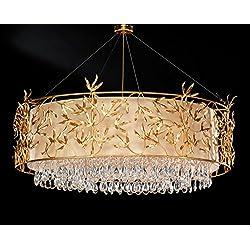 tredici Diseño–Lámpara colgante (Cristal Marigold Flora en hojas oro | hecho a mano en Italia | lámpara | lámpara colgante G9
