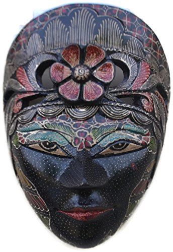9-Pintado-de-madera-africana-Masai-mscara-Tribal-Art-mano-y-mano-Carved-polinesia-Tiki-Estilo-Wall-Art