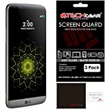 [Pack of 3] TECHGEAR® LG G5 (H850) MATTE ANTI GLARE LCD Screen Protector Guard Covers With Cleaning Cloth & Application Card