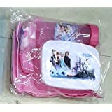 K&M World Kids Frozen Lunch Box Tiffin Box With Lunch Bag/Water Tumbler /Napkin/Spoon-Gift Pack-Frozen/Birthday Party Gift/Return Gift For Boys Girls Kids Children