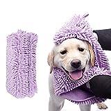 Robluee - Asciugamano da Bagno per Cane e Gatto, in Microfibra, Asciugatura Rapida, Super Assorbente