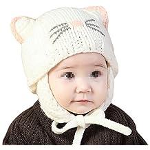 TININNA Mignon Mode Tricot Crochet Hiver Chaud Chapeau Bonnet Chat Cache  Oreille Beanie Capuchon Casquette Calotte 12fc7575ab9