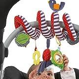 Hankyky Spiral Kinderwagenkette Stoff Spielzeug Plüschtiere Spielzeug Baby Carriages Toys Bett hängen Spielzeug Baby-Autositz-Spielzeug mit Vögel und Bell