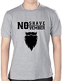 No Shave November Long Beard - Grey Printed Round Neck T-Shirt