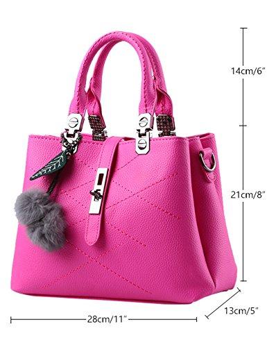 Menschwear Leather Tote Bag lucida PU nuove signore borsa a tracolla Cielo Blu Rosa 1