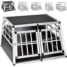 TecTake Transportín de aluminio para perros - varias tamaños - (89x69x50cm   no. 400549)