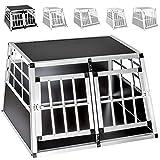 TecTake Transportín de aluminio para perros - varias tamaños -...