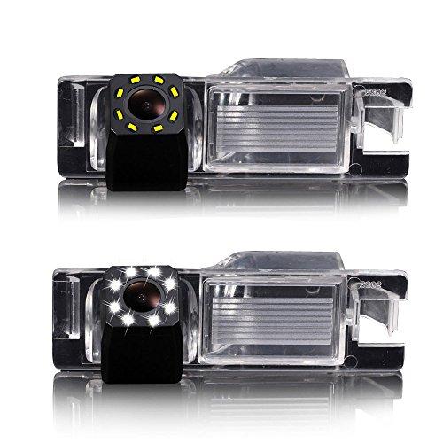 HD Voiture Caméra 8LED Vision Nocturne, 170 ° Grand Angle Caméra de Recul pour Aifa Romeo 147/159/156 Benzina/156 TD.ID./156. M.Y./166 Bz-DS/GT/Brera Coup/Nuovo Spider/Giulietta 940/MiTo AR Furiosa