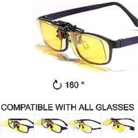 KLIM OTG - Gafas de Clip para Bloquear la Luz Azul 2019 Versión - Alta Protección Frente a la Pantalla - Gafas Gaming para PC, Móvil, TV - Anti Fatiga, Anti Luz Azul - Filtran la Luz Azul