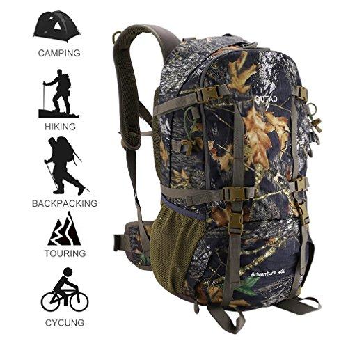 OUTAD senderismo mochila, resistente al agua camuflaje caza mochila, 40L deportes al aire libre senderismo mochila/Camping mochila/senderismo mochila