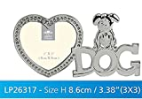 Diamante Love Dog Frame - LP26317, excellent gift for dog lovers, photo frame with heart-shaped frame, a must buy gift for animal lovers and pet lovers....Stock limited.... by JMS PHOTOS