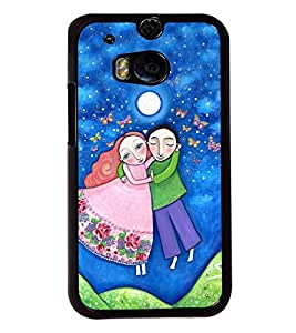 Fuson Love Couple Back Case Cover for HTC ONE M8 - D4000