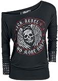 Rock Rebel by EMP Fast and Loose Camisa Manga Larga Negro S
