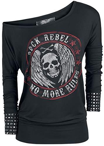 Rock Rebel by EMP Fast and Loose Camisa Manga Larga Negro S 7ebf04f3dad7