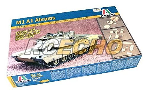 RCECHO® ITALERI Military Model 1/35 M1 A1 Abrams Scale Hobby 6438 T6438 with RCECHO® Full Version Apps Edition (Model Abrams M1)