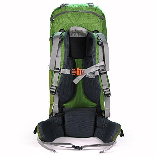 YYY-All'aperto alpinismo borsa 60L campeggio zaino in nylon impermeabile uomini e donne spalle travel bag outdoor outsourcing 50L , blue Orange
