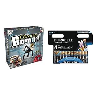 IMC Toys Chrono bomb - Juego de reflejos, mínimo 1 jugador con Duracell Ultra Power - Pack DE 12 Pilas alcalinas AAA