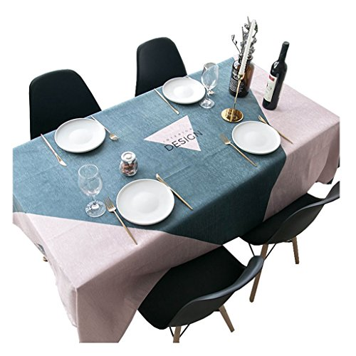 MEIE QIG Geometry Tablecloth, Restaurant Printing Coffee Table Tablecloth Living Room Dining Table Tablecloth Waterproof Cloth Art Tablecloth Width 100-140CM (Color : B, Size : 200*140CM)