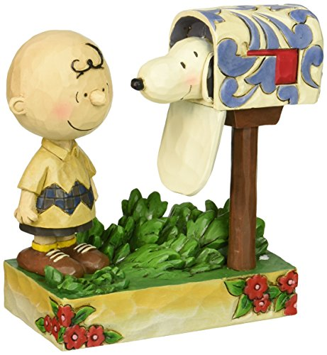 Jim Shore für Enesco Peanuts Charlie Brown & Snoopy Mailbox Figur, 12,7 cm