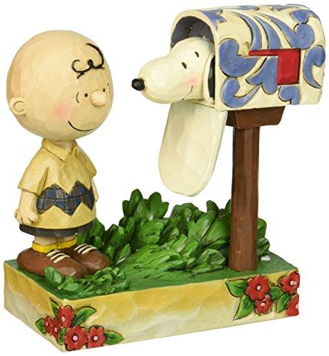 Jim Shore für Enesco Peanuts Charlie Brown & Snoopy Mailbox Figur, 12,7cm (Schwester Brown Charlie)