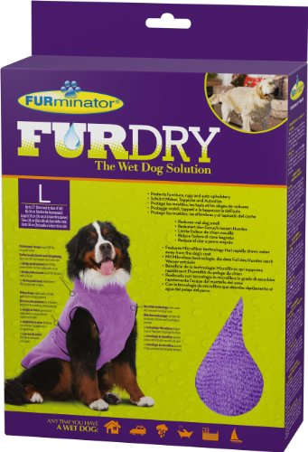 FURminator FUR Dry für Hunde (groß, bis 58 cm Körperlänge, lila)