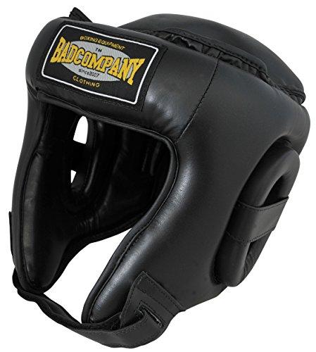 Bad Company I Schutzhelm für Training und Wettkampf I Kopfschutz in verschiedenen Farben I Schwarz Gr. M Kickboxen Training-equipment