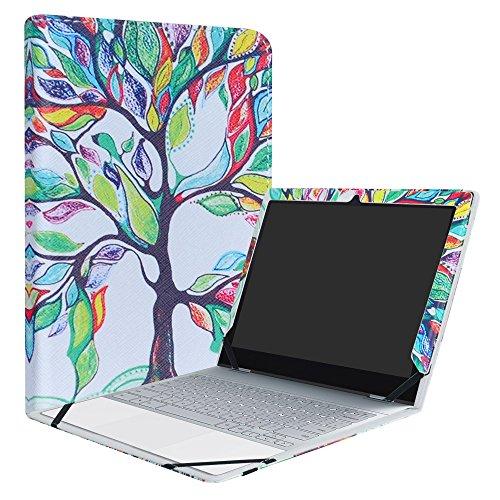 liushan PU Leder Folio Carring Cover für 31,2cm Google pixelbook (31,2cm HD IPS-Touch) 2-in-1-Laptop Tablet Gold Love Baum - Ips Touch-screen-laptop